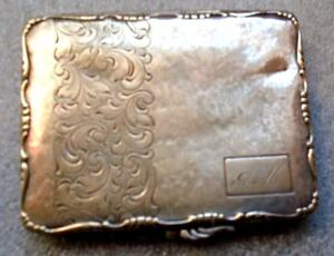 Ornate Antique Sterling Silver Card Compact Case