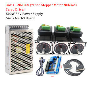 3axis 3nm Stepper Motor Nema23 Cnc Router Kit 5axis Breakout Board Power Supply