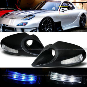 For 94 97 Accord Zero Style Manual Blue White Led Signal Side Mirror