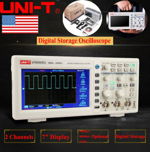 Uni t Utd2052cl 7 Lcd Tft Digital Storage Oscilloscope 2 Channels 50mhz 500ms s