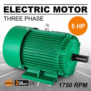Electric Motor 5 Hp 3 Phase 1750 Rpm 1 125 Shaft 230 460v Apply F Insulation