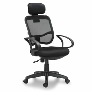 Ergonomic Back Mesh Office Chair With Adjustable Height And Headrest Armrest