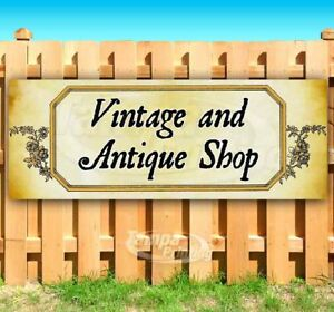 Vintage And Antique Shop Advertising Vinyl Banner Flag Sign Many Sizes