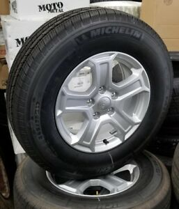 Set Of 5 2018 Jeep Wrangler Jl 17 Factory Wheels And Tires Michelin Ltx
