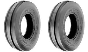 Two 7 5l 15 Tri 3 rib Front Farm Tractor Tubeless Tires 8ply Rated F2 Heavy Duty