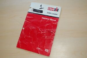Case Ih 2250 Front End Loader Owner Operator Operation Manual Book Guide Tractor