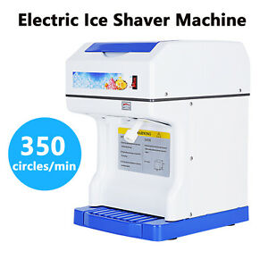 Electric Tabletop Ice Shaver Machine Shaved Ice Crusher Ice Snow Cone Maker
