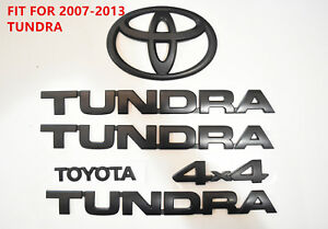 For 2007 2013 Toyota Tundra Matte Black Out Emblem Badges Tailgate 6 Piece Kit