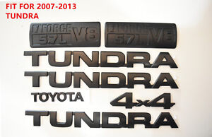 For 2007 2013 Toyota Tundra Matte Black Out Emblem Badges Tailgate 7 Piece Kit