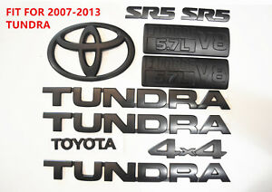 For 2007 2013 Toyota Tundra Matte Black Out Emblem Badges Tailgate 10 Piece Kit
