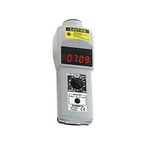 Shimpo Dt207lr Handheld Laser Non contact contact Digital Tachometer Led