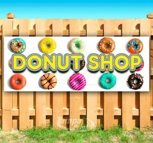 Donut Shop Advertising Vinyl Banner Flag Sign Many Sizes