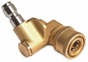 Quick Connecting Pivoting Coupler Pressure Washers Nozzles Cleaning 4000psi 1 4