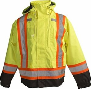 Terra 11 6501 yll High visibility 7 in 1 Reflective Safety Jacket Yellow Large