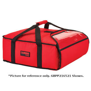 Cambro Gbpp218521 Premium Red Pizza Delivery Bag Two 18 Pizza Capacity