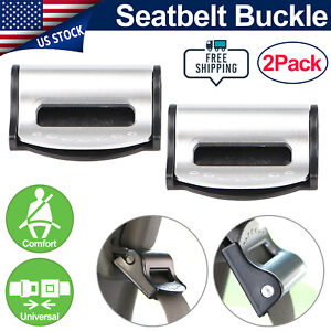 2x Car Seat Belt Locking Clamps Shoulder Strap Adjuster Stopper Comfort Clips