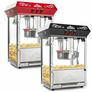 Olde Midway Bar Style Popcorn Machine Maker Popper With 8 ounce Kettle Black