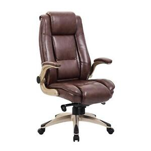 Kadirya High Back Bonded Leather Executive Office Chair Adjustable Armrest