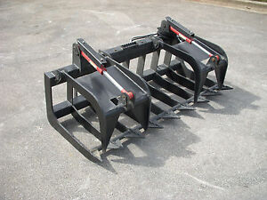 Kubota Skid Steer Attachment 72 Heavy Duty Root Grapple Bucket Free Ship