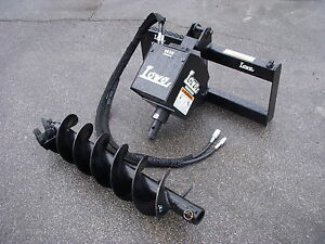 Bobcat Skid Steer Attachment Lowe 1650 Classic Auger Drive 12 Bit Ship 199