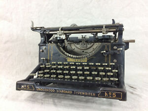 Underwood Standard Typewriter No5 Vintage As Is C5