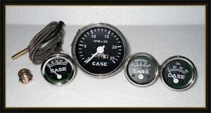 Case Tractor Gauge Set temp tachometer oil Pressure ammeter Fits In 430 470 530