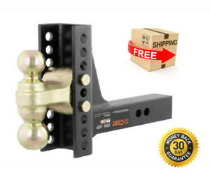 Trailer Towing Hitch Dual Ball Adjustable C Channel Mount Drawbar Rvs Camper