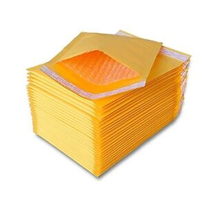 500 Pcs 0 Kraft Bubble Padded Self sealing Envelopes Mailers 6x10 inner 6x9