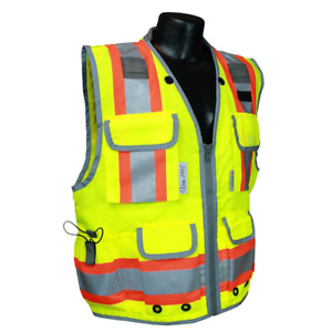 Vero1992 Reflective Vest Class 2 Heavy Woven Two Tone Engineer Hi Viz