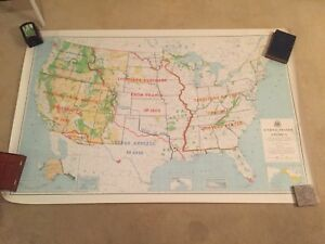 Awesome United States Map Historical Boundaries 1964 Big And Colorful 65 X42