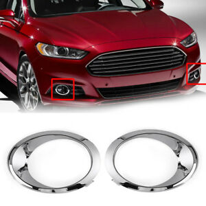 Rh Lh Fog Light Cover Bezel Trim Ring Chrome For Ford Fusion Mondeo 2013 2016