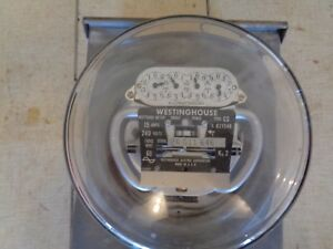 Westinghouse Type Cs Electrical Usage 3 Wire Watthour Meter 15a 240v