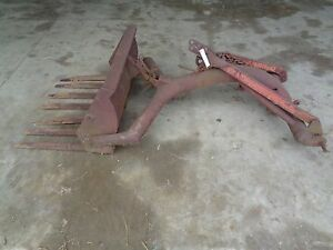 Vintage Ford Ferguson Fortier 3 Point Rear Manure Loader