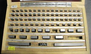 id 2003179 Starrett 81pc Gauge Block Set