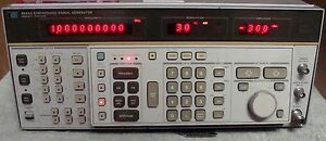 Hp Agilent Keysight 8662a Synthesized Signal Generator W Man Calibrated