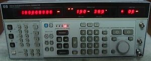 Hp Agilent Keysight 8663a Synthesized Signal Generator W Manual Calibrated