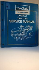 Cub Cadet Power Equipment Compact Tractors Service Manuals 700 Series