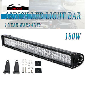 32 Inch 180w Led Light Bar Driving Fog Off Road Bumper Truck For 2016 Tacoma 30