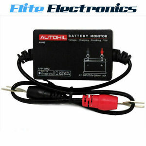 Autohil Bluetooth Battery Voltage Monitor Voltmeter Car Tester For Ios Android