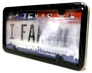 Clear Anti Photo Radar License Plate Cover And Black Frame Combo W Bolt Caps