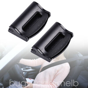 2x Car Safety Seat Belt Adjuster Clips Comfort Stopper Buckle Clamp Universal
