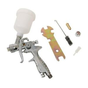 Paint Spray Gun Hvlp Polished Aluminum Gravity Feed 0 8 Mm Nozzle 120 Ml Cup