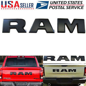 2015 2018 Dodge Ram 1500 Tailgate Ram Emblem Letters Set Of 3 Black Self Adhesiv