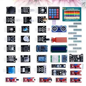 37 New Version Assorted Updated Modules Sensor Kit For Arduino Uno R3 Mega 2560