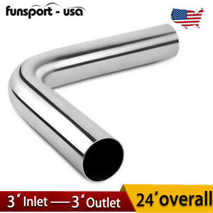 3 76mm Stainless Steel 90 Degree Exhaust Piping Tubing Welded Bend Pipe