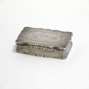 2 5 8 In Sterling Silver Antique English Nathaniel Mills C 1852 Snuff Box