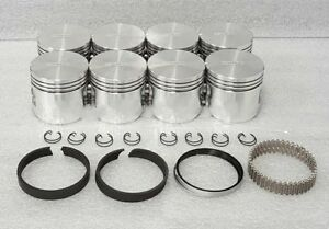 Silvolite Ford Mercury 312 Y block Pistons rings Std Thunderbird Rockers Gaskets