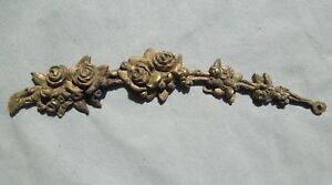 Cast Victorian Ormolu Floral Decorative Applique Frame Furniture Trim 9 1 2 L