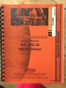 Allis Chalmers Tractor Service Manual Wd Wd45 Wd45 Diesel Ac s wd wd45