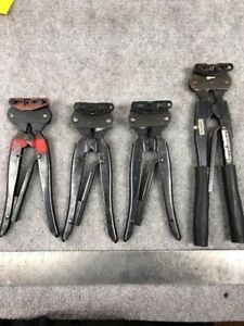 Lot Of 4 Amp Crimping Tools Models In Pictures